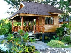 Ideas Small Tree House Interior Woods For 2019 Wooden House Design, Bamboo House Design, Tropical House Design, Simple House Design, Bungalow House Design, Tiny House Design, Small Wooden House, Hut House, Tiny House Cabin