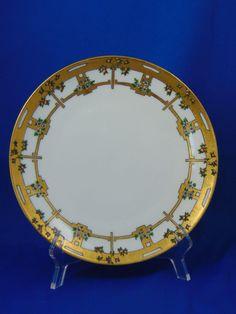 "Thomas Bavaria Arts & Crafts Orange Tree Motif Plate (Signed ""Marie Hebert""/c.1911-1920)"
