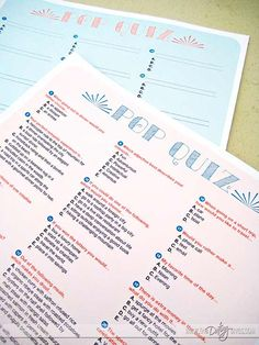 Couples Date Night Quiz and Interview Printable Kit