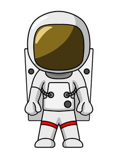 cartoon Astronaut with enlarged head| WebQuest Rocket Man