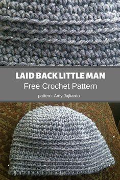 Laid Back Little Man Hat Crochet Pattern ❤️ MyCrochetPattern Reverse Single Crochet, Double Crochet, Crochet Symbols, Crochet Patterns, Crochet Hook Sizes, Crochet Hooks, Hat Crochet, Free Crochet, Yarn Brands
