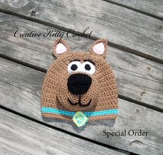 Scooby Doo Hat Pattern, sizes newborn to adult, $3.99