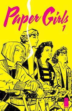 Paper Girls #1 SAGA writer BRIAN K. VAUGHAN launches a brand-new ONGOING SERIES with superstar Wonder Woman artist CLIFF CHIANG! In the early hours after Halloween of 1988, four 12-year-old newspaper delivery girls uncover the most important story of all time. Stand By Me meets War of the Worlds in this mysterious young adult adventure.