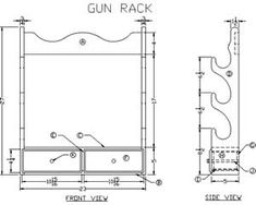 How to Build a Wooden Gun Rack - Free Woodworking Plans at Lee's Wood ...