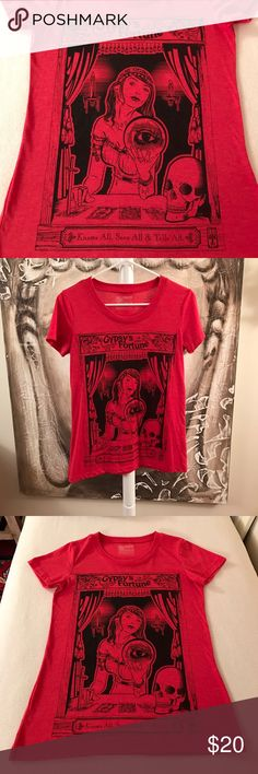 Gypsy's Fortune Tee Very cool tee for the gypsy in all of us. Curbside Clothing, size large fitted tee. Never worn. Tops Tees - Short Sleeve