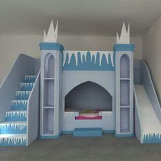 Frozen bed I think this would be pretty easy to make!