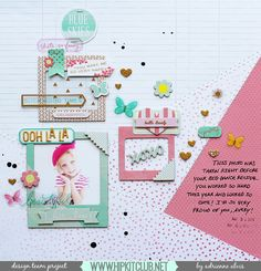 Ooh La La by Adrienne Alvis for Hip Kit Club using the May 2015 Hip Kits.