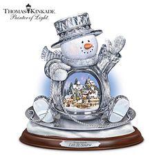 Thomas Kinkade Let It Snow Sculpture