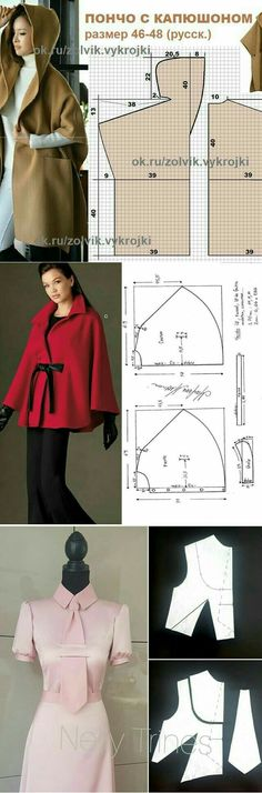 Ideas for home- Идеи для дома Beautiful clothes: interesting and simple options – DIY, ideas for creativity – DIY Ideas - Diy Clothing, Sewing Clothes, Clothing Patterns, Dress Patterns, Sewing Patterns, Fashion Sewing, Diy Fashion, Fashion Outfits, Jackets Fashion