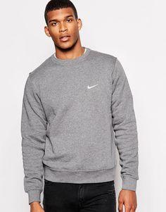 Image 1 ofNike Sweatshirt With Embroidered Swoosh 611467-071