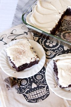 Chocolate Cake with Cream Cheese Frosting - Muy Bueno Cookbook  Chocolate is a traditional food placed on the altar and eaten atDía de los Muertoscelebrations. This cake is a modern-day dessert that honors old traditions. It is a very simple cake to make. This simple cake mixes up quickly and more than likely you have all the ingredients readily available.