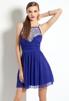 Illusion Beaded Dres