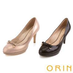 ORIN 典雅時尚女人 蝴蝶結花邊高跟鞋-粉紅 - Yahoo!奇摩購物中心
