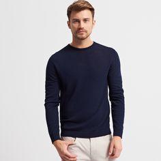 Pulover cu adaos de lână, PULOVERE, bleumarin, RESERVED Lana, Wool Blend, Men Sweater, Long Sleeve, Sleeves, Mens Tops, T Shirt, Clothes, Style