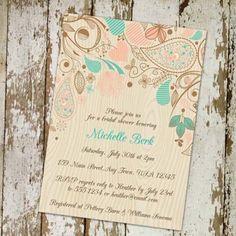 Print country cheap bridal shower wedding invitations EWBS024 as low as $0.94   #elegantweddinginvites