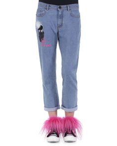 Yes! Fluffy, furry, fun included! Karlito Fur Applique Boyfriend Jeans by Fendi at Bergdorf Goodman.