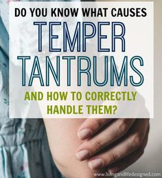 One of the best articles I've seen on how to handle temper tantrums without losing my cool! A great way to look at WHY temper tantrums happen and how to react without making the situation worse.