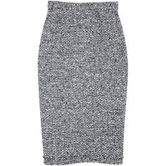 Roland Mouret Norley high-waisted tweed pencil skirt ($825) ❤ liked on Polyvore featuring skirts, knee length pencil skirt, high-waisted skirts, roland mouret, high rise skirts and high waisted pencil skirt
