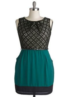 Meet Your Marvelous Mishmash Dress in Teal, #ModCloth