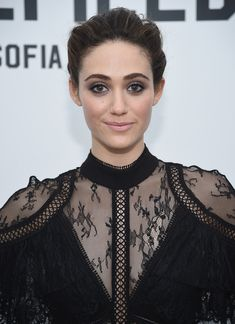 """Emmy Rossum Photos - Emmy Rossum attends """"The Minefield Girl"""" Audio Visual Book Launch at Lightbox on January 2018 in New York City. - 'The Minefield Girl' Audio Visual Book Launch Loose Buns, Pink Jumpsuit, Emmy Rossum, Book Launch, Book Girl, Her Hair, Pop Culture, Photo Galleries, Product Launch"""