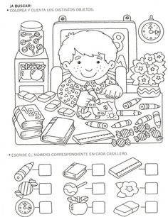 Crafts,Actvities and Worksheets for Preschool,Toddler and Kindergarten.Lots of worksheets and coloring pages. Back To School Worksheets, Kindergarten Worksheets, Worksheets For Kids, Preschool Activities, Coloring Books, Coloring Pages, Hidden Pictures, Math For Kids, Teaching Math