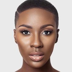 Love the natural makeup look African American Makeup, African American Hairstyles, Tapered Natural Hair Cut, Natural Hair Styles, Brown Skin, Dark Skin, American Skin, Faded Hair, Wedding Day Makeup