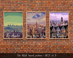 USA Travel Posters Set of 3 Instant download Digital prints https://www.etsy.com/listing/554972775/usa-travel-posters-set-of-3-instant?utm_campaign=crowdfire&utm_content=crowdfire&utm_medium=social&utm_source=pinterest #art #travel #design #decor #decoration #traveltheworld #artgallery #travellife #travelbug #decorations #instadecor #traveldeeper #artstagram #destinations #trips #journeys #love #instacool #instago #colorful #USA #America #LA #NewYork #sanfrancisco