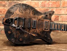 Parsons Guitar, Diablo Series (Mosquito copper etching design by S.Reeves)