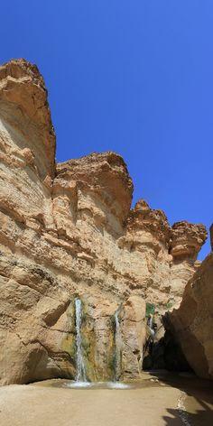 Waterfalls in Tamerza near Tozeur (Tunisia)    © Patrick Bosmans