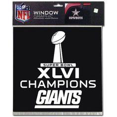 Super Bowl Xlvi Champion New York Giants - Window Graphic - Large