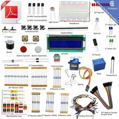 Adeept New Project 1602 LCD Starter Kit For Arduino UNO R3 Mega 2560 Nano Servo  #DoesNotApply