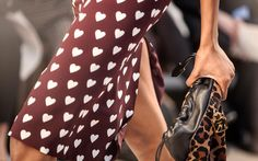 Printed hearts and the Little Crush Bag on the Burberry Prorsum Autumn Winter 2013 runway