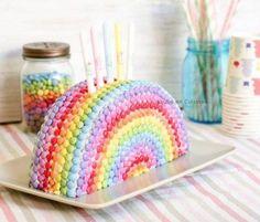 Gâteau arc-en-ciel Smarties - Jujube en cuisine