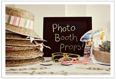 The more props, the better! Make your wedding or even more interesting by adding fun props and a DIY photo booth backdrop!