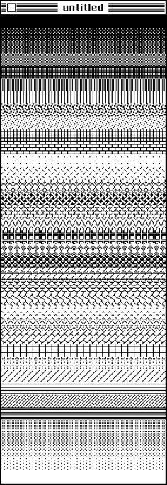 MacPaint Infinite Fill Pattern
