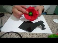 Come fare un papavero in crepla - YouTube