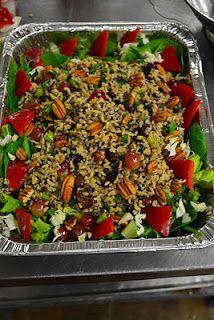 Vegan Quinoa Salad, but in a pretty dish!