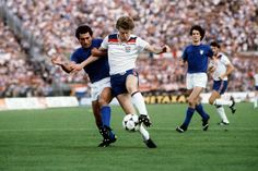 England's Tony Woodcock is challenged by Italian defender Claudio Gentile in Italy's win in Turin in 1980 Steve Coppell, England Kit, International Football, England Football, Turin, Football Team, Champs, Past, How To Memorize Things