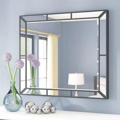 Deals & Sales for Bedroom Furniture. Mirror Trim, Vanity Wall Mirror, Round Wall Mirror, Dresser With Mirror, Bathroom Mirrors, Bathrooms, Mirrors Wayfair, Wood Home Decor, Modern Contemporary