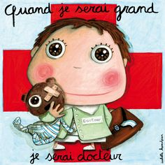 Tableau Docteur Isabelle Kessedjian Illustrations, Photo Illustration, When I Grow Up, Tooth Fairy, Cartoon Kids, Art Plastique, Portrait Art, Cute Drawings, Paper Dolls