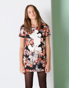 Bershka Ukraine - Disney BSK floral print dress