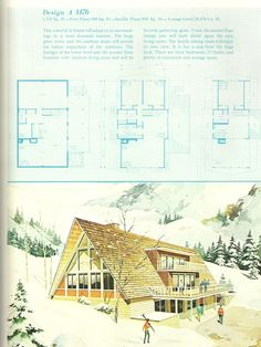 vintage house plans, vacation home plans, 1960s homes