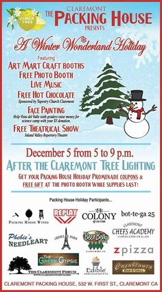 Great holiday event in Claremont!