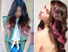 pink Ombre Hair/Haar