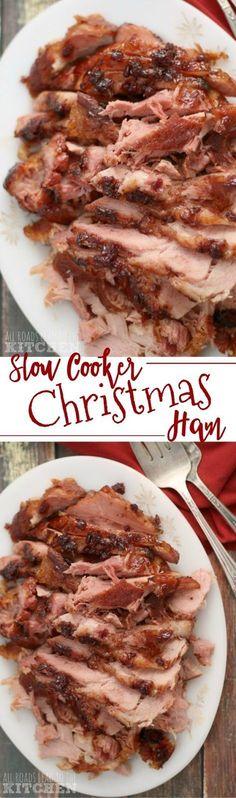 Slow Cooker Christmas Ham Recipe