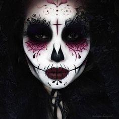 Easy Sugar Skull Makeup for Halloween http://seatbuzz.club/sfanp-makeup_skull_for_halloween_suga8826