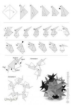 Кусудама Мастер-класс Оригами Incanto Bloom Туториал Бумага фото 39