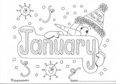 Months Of The Year Tracing And Coloring Pages & Month Coloring coloring Coloring Pages For Kids, Free Coloring, Hand Coloring, Kids Coloring, Coloring Book Pages, Printable Coloring Pages, Coloring Sheets, Monthly Calendar Template, Monthly Calendars