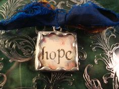 HOPE AND SING   Soldered Glass Pendant or by victoriacharlotte, $5.75