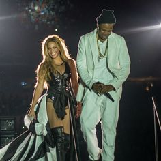 Photos from the first night of Jay Z and Beyonce's On The Run tour. An epic setlist and many, many costume changes...  Click the image for more.
